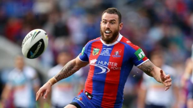 Treated for depression ... Darius Boyd playing for Newcastle on the weekend.