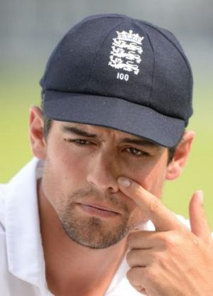 England's Alastair Cook.