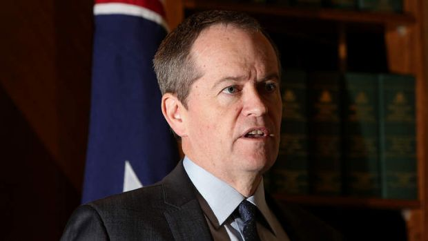 Labor leader Bill Shorten has made a case for an emissions trading scheme in a speech in the US.