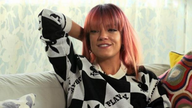 Lilly Allen on Thursday ahead of her Melbourne show.