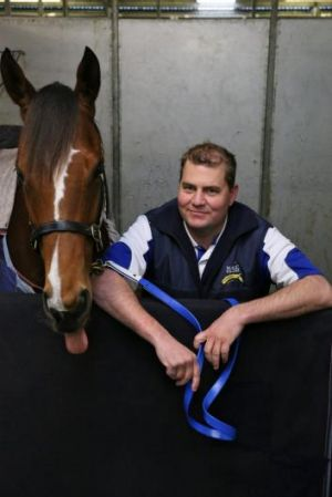 Spreading his wings: Warwick Farm trainer David Pfieffer with Atmospherical.