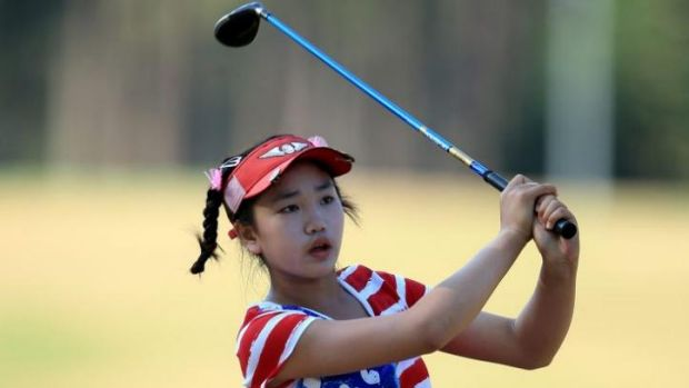 History maker: Lucy Li was 11 when she played her first LPGA Tour event.