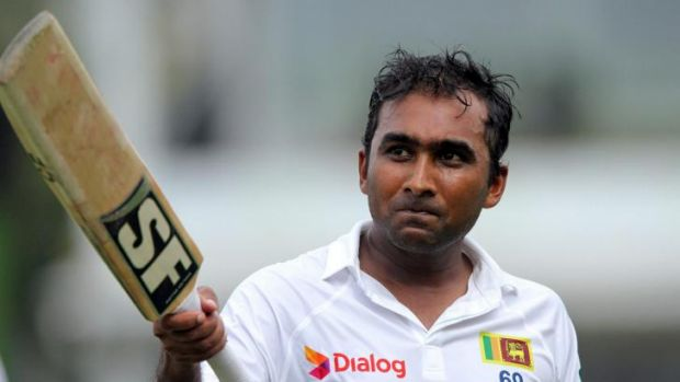 Acknowledgement: Mahela Jayawardene celebrates his century against South Africa.