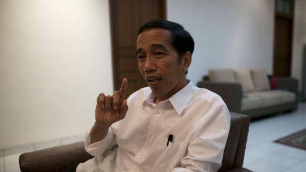 President-elect Joko Widodo during an interview in Jakarta.