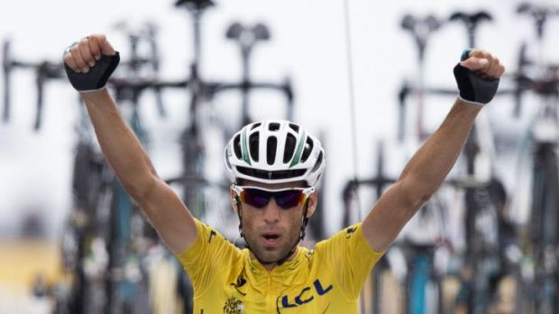 Worthy champion: This year's Tour de France yellow jersey Vincenzo Nibali.
