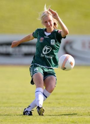 Gill in action for Canberra United.