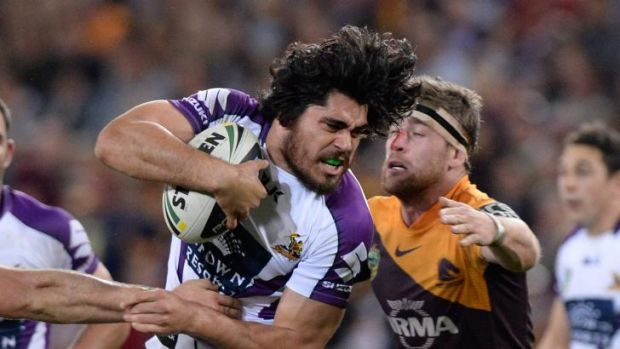Hair raising: Tohu Harris makes a bust.