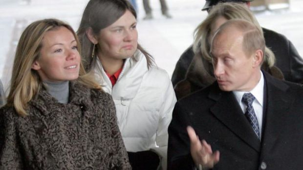 Maria Putina pictured with her father, Russian President Vladimir Putin, in 2007.