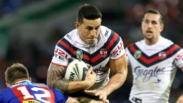 Thumb injury: Roosters star Sonny Bill Williams is expected to miss a month after suffering a thumb fracture in the loss ...