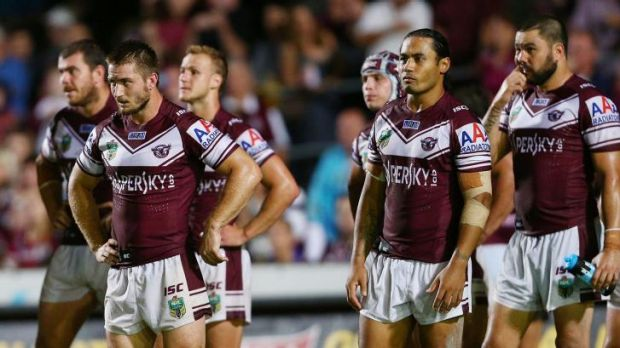 Drama off the field, success on the field: the Manly Sea Eagles of 2014.