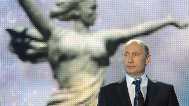 Russian President Vladimir Putin speaks at a ceremony marking the 70th anniversary of the Stalingrad Battle, in the ...