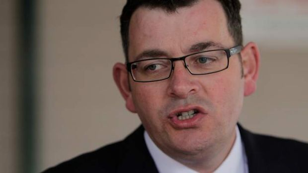 State Opposition leader Daniel Andrews.