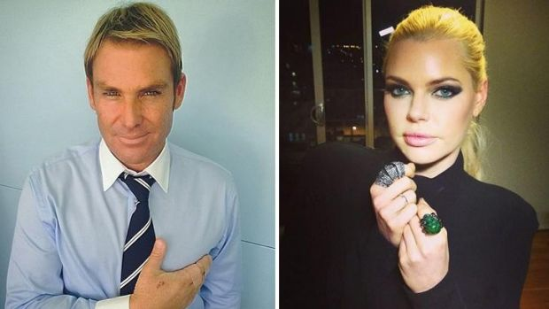 Dinner date: Did Shane Warne and Sophie Monk kiss during their London catch-up?