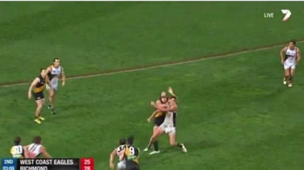 Vickery was reported for this incident.
