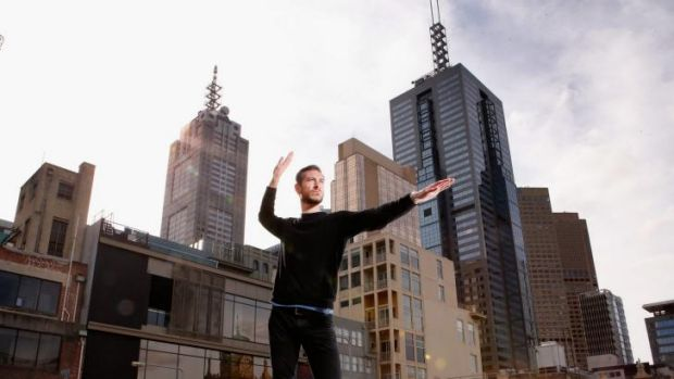Up on the roof: Melbourne dancer Lee Searle will perform with US choreographer Trisha Brown's company at the 2014 ...