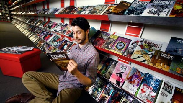 All Star Comics has won the Eisner award for world's best comic store.  Co-owner Mitchell Davies in the Lonsdale Street ...
