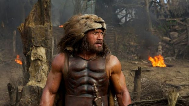 Rock star ... Dwayne Johnson as Hercules in Brett Ratner's very modern take on the classical Greek legend.