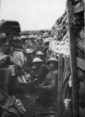 Ready to fight: Men of the 53rd Battalion waiting to don their equipment for the attack at Fromelles. Only three of the ...