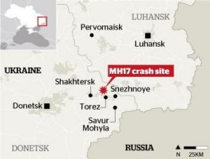Ukrainian and rebel forces are locked in a struggle for control of the MH17 crash site.