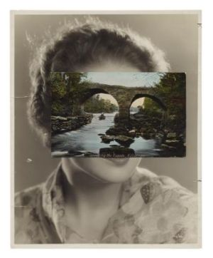 """When you cut a photographic image, it's like cutting skin."" John Stezaker's 'Mask CLI', 2010."