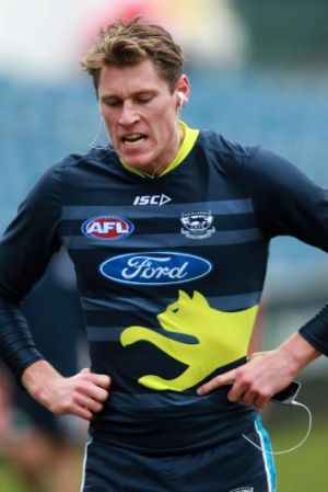 Big man: Mark Blicavs has been important for the Cats.