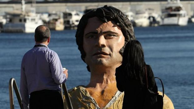 A three-metre-high polstyrene statue modelled on Colin Firth as Mr Darcy in TV's Pride and <i>Prejudice</i> has appeared ...
