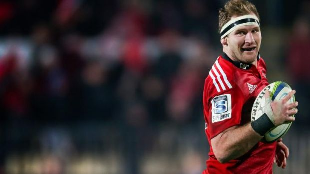Big ball-runner: Crusaders captain Kieran Read.