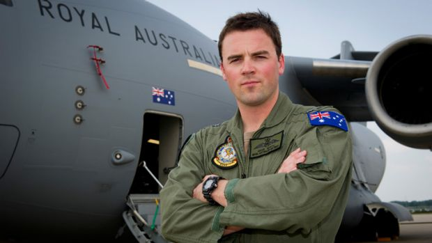 "RAAF Flight Lieutenant Dave Whyte: ""All of us involved are just trying to make the best of a terrible situation."" ..."