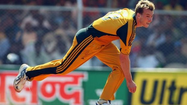 """""""I sign thousands of things every year:"""" Australian cricketing great Brett Lee."""