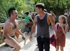 Tick tock: From left, Daniel Henshall, Nathan Phillips and Angourie Rice in <i>These Final Hours</i>.
