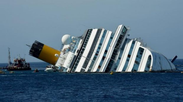 Thirty-two people died when the ship hit rocks.