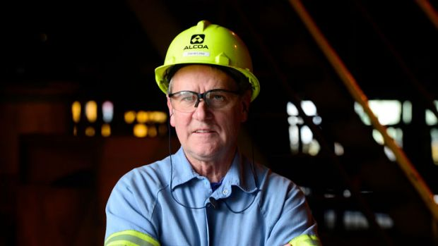 Electrode division manager Darrel Linke has worked at the Alcoa plant for 35 years.