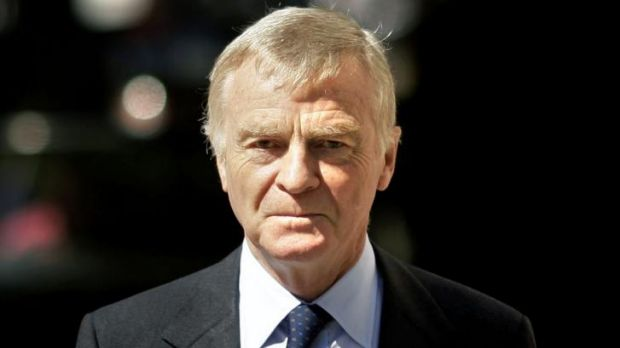 Former formula one boss Max Mosley in 2008.