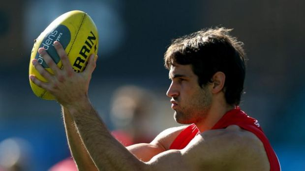 Looking for redemption ... Josh Kennedy at training on Wednesday.
