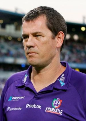 Former Fremantle coach Mark Harvey.