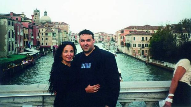 Chris Soteriou (right) with Vicky on holiday in Venice in 2001.
