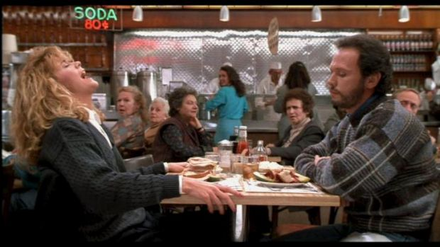 Faking it: The orgasmic scene in <i>When Harry Met Sally.</i>