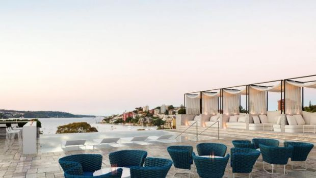Dream date: The InterContinental Sydney Double Bay's rooftop bar.
