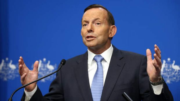 """We will not readily be deterred here"": Prime Minister Tony Abbott."