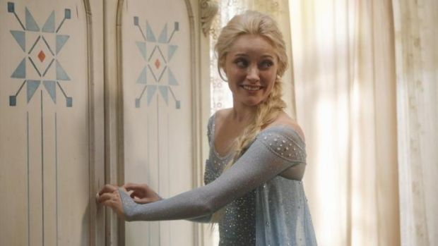 Georgina Haig as  Elsa, the Snow Queen of Arendelle, from <i>Frozen</i> in Disney TV series <i>Once Upon a Time.</i>
