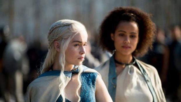 Daenerys Targaryen (Emilia Clarke), from George RR Martin's hit book series and TV show <i>Game of Thrones.</i>