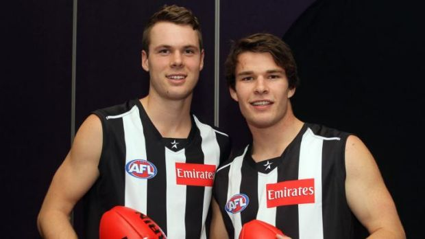 The future: Matt Scharenberg and Nathan Freeman will be key players for the Pies.