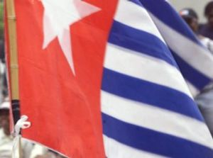 "The flag of the ""Free Papua Movement""."