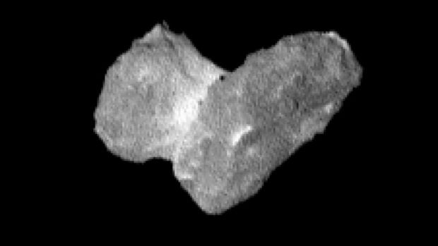 The nucleus of Rosetta's target comet seen from a distance of 1950km on July 29.