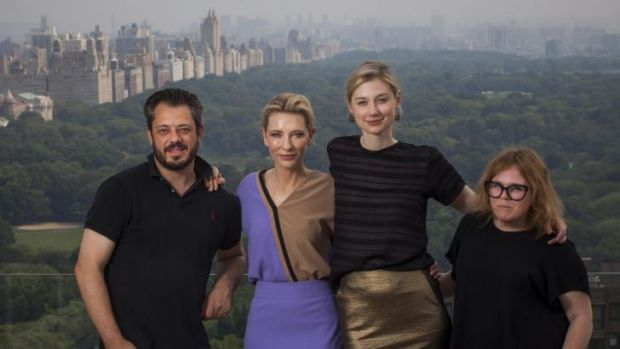 Celebrated: Benedict Andrews, Cate Blanchett, Elizabeth Debicki and Alice Babidge in New York.