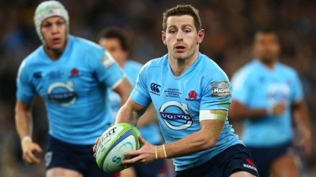 Composure: Bernard Foley in action during the Waratahs' victorious final.