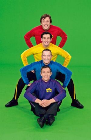 The former Wiggles: Only the blue Wiggle, Anthony Field, is in the current lineup.