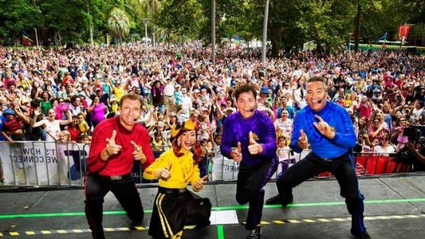 The Wiggles, from left, Simon Pryce, Emma Watkins, Lachy Gillespie and Anthony Field