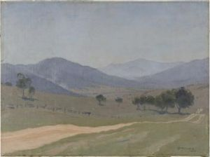 Mystery: Elioth Gruner's Untitled (Landscape) 1930, which was recently bought by the Canberra Museum and Gallery.