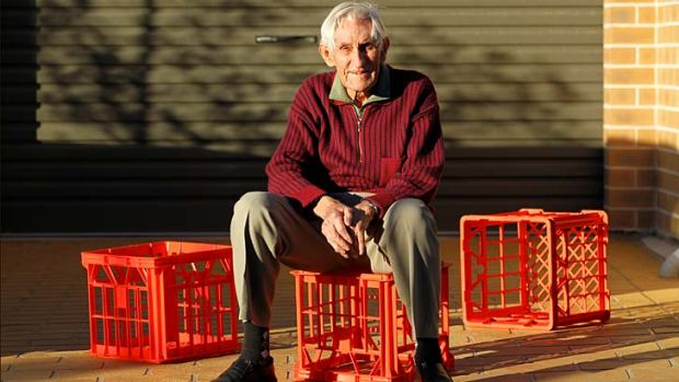 Plenty to laugh about: Geoff Milton, a former engineer with Dairy Farmers, was behind the milk crate design we know today.